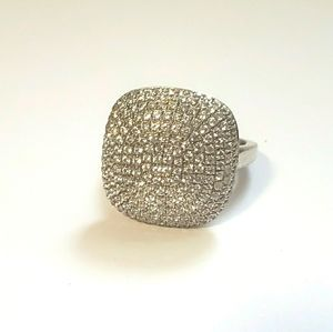 S.silver CZ cushion ring